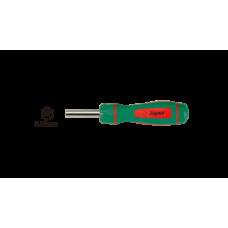Отвертка за накрайници с тресчотен механизъм 1/4 l165мм hans tools